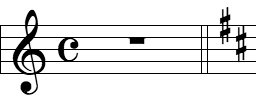 Courtesy Key Signature