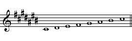OnMusic Dictionary - topic C Flat Major Scale