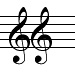 double treble clef