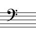 sub-bass clef